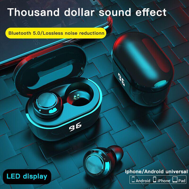 سماعات الأذن A6P TWS Mini Bluetooth Wireless Bluetooth 5.0 مركبتي سماعات ستيريو مع سماعة رأس شحن رقمي