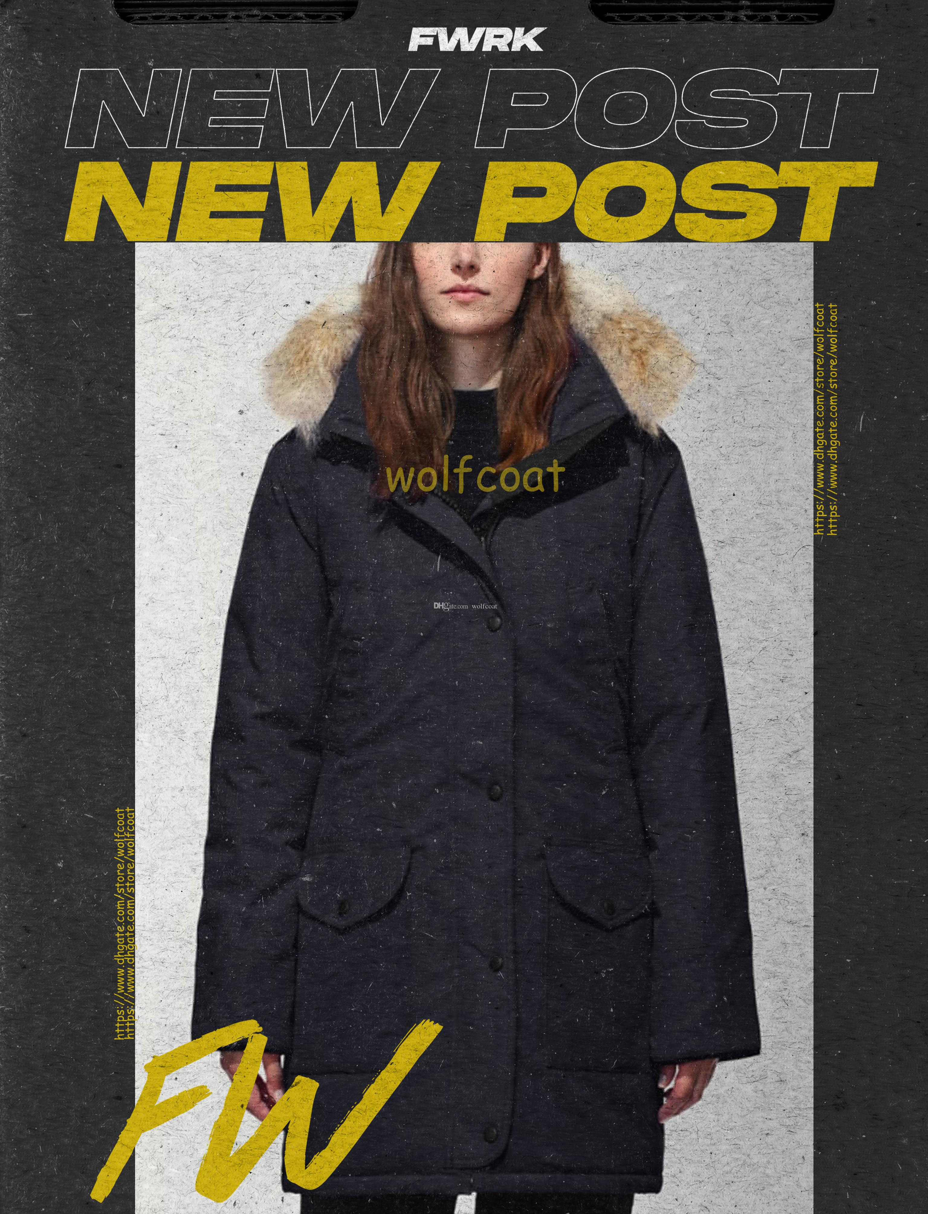 Üst Parkas Kış Kadın Aşağı Kanada Ceket Kadın Giyim Ceket Renk Palto Kalite İyi Parka Klasik Moda