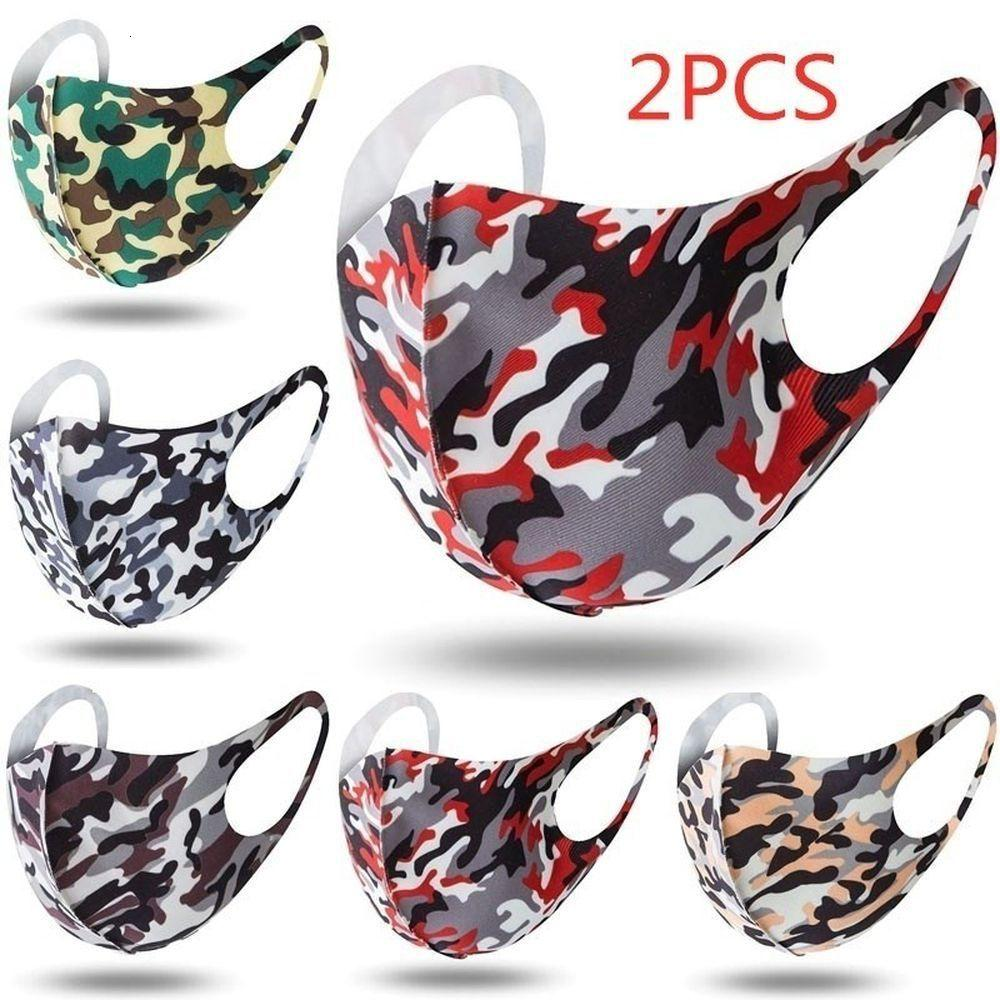 5 Farben Camouflage Breathstaubdichtes Maske Anti-Staub Haze PM2.5 Schutz-Gesichtsmasken für Kinder Frauen Männer