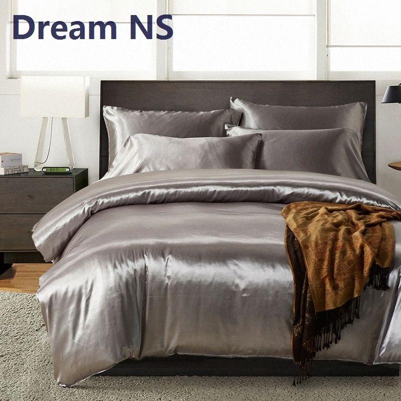 AHSNME Rússia Bedding Set 1 / capa de edredão + fronhas 70 * 70 centímetros roupas de cama como a seda cinzento macio Lençóis pl64 #