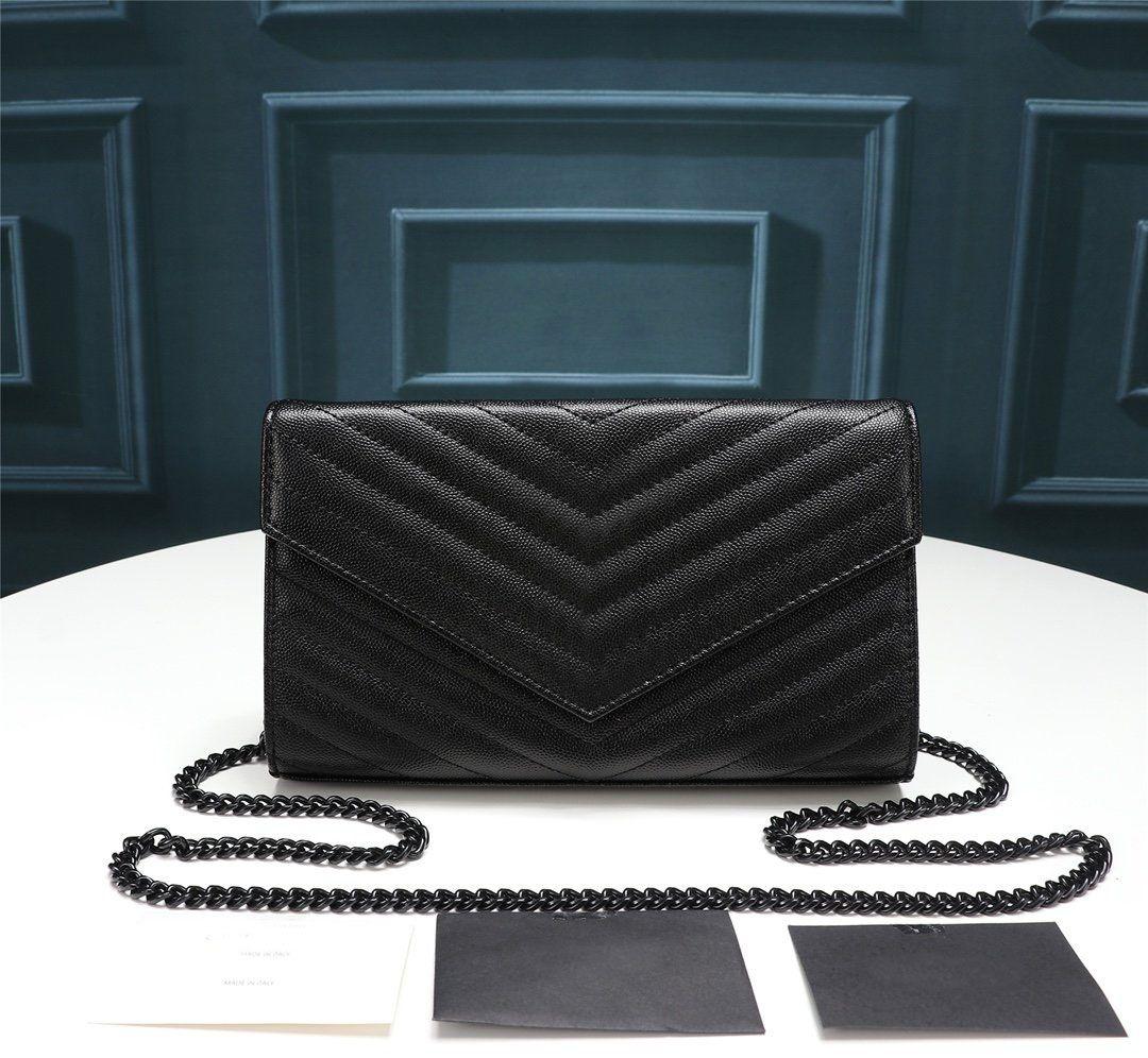 Heißer verkauf neue mode luxus designer frauen handtasche hochwertig glatt echtes leder kreuzkörper flap tasche rindsleder schwarz geldbörse tasche