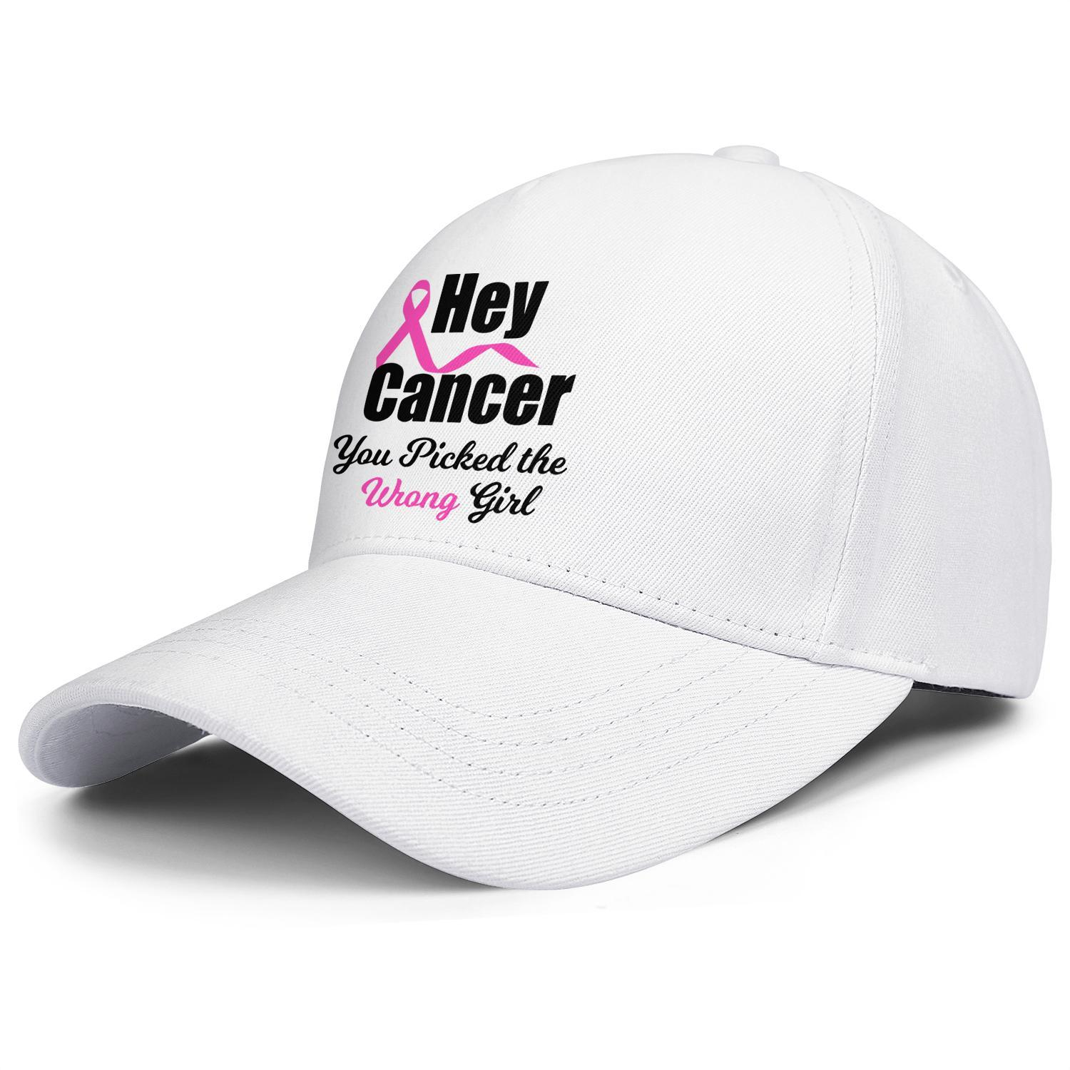 Fashion Baseball Cap Breast Cancer Hey You Picked the Wrong Girl Adjustable Ball Hat Cool Personalized Trucker Cricket breast cancer -