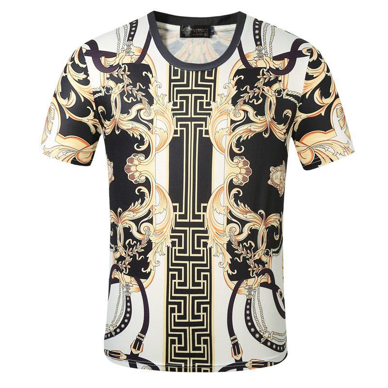 Lujosa camisa para hombre T diseñadores de moda las camisetas para los hombres de manga corta de las mujeres Camiseta Ropa patrón de la letra impresa camisetas de cuello redondo