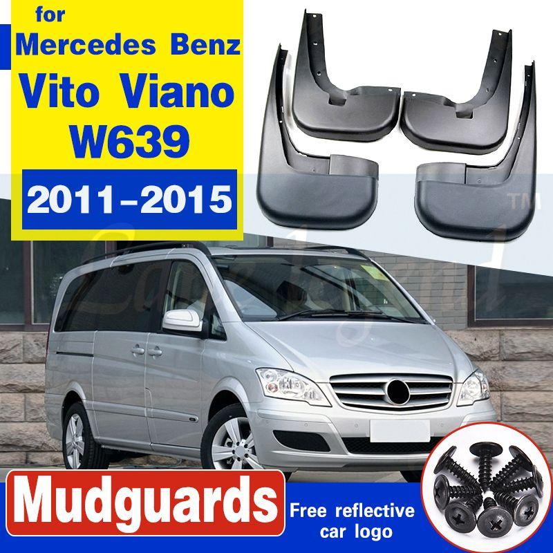 Garde-boue boue Rabats bavettes pour Mercedes-Benz W639 Vito Viano 2011-2015 voiture Fender Accessoires