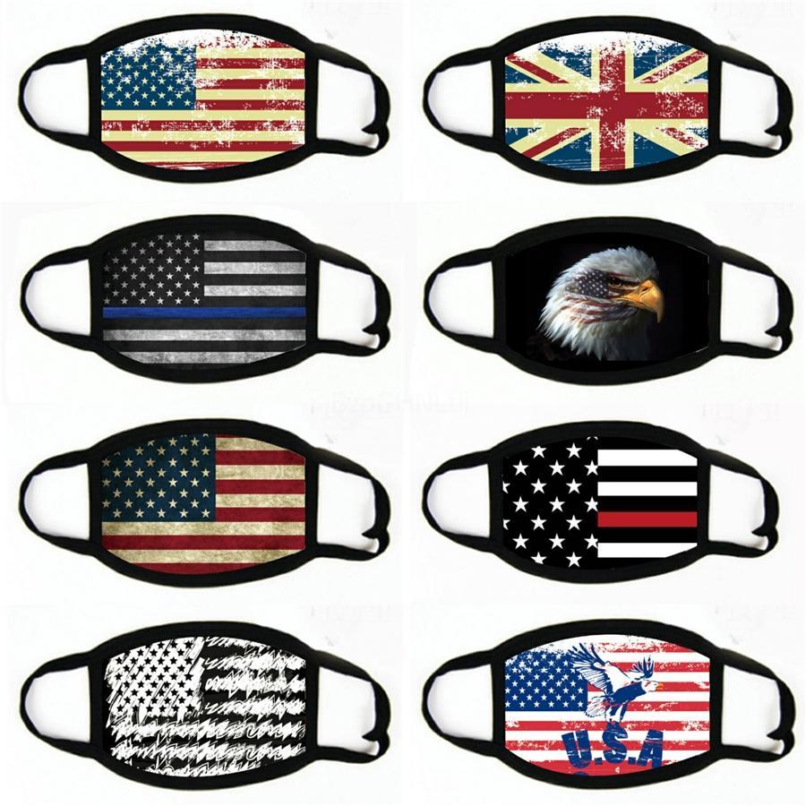 La máscara American National Flag impresa boca transpirable reutilización careta Boca-mufla diadema velo Ciclismo a prueba de polvo máscara # 862