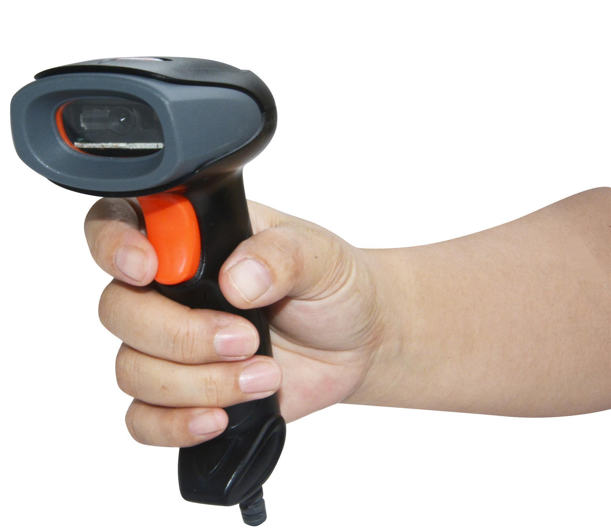 2d Qr Usb Проводная сканер штрих-кода Ручной водить считывателя штрих-кода сканер штрих-приемник для чтения супермаркет Бесплатная доставка