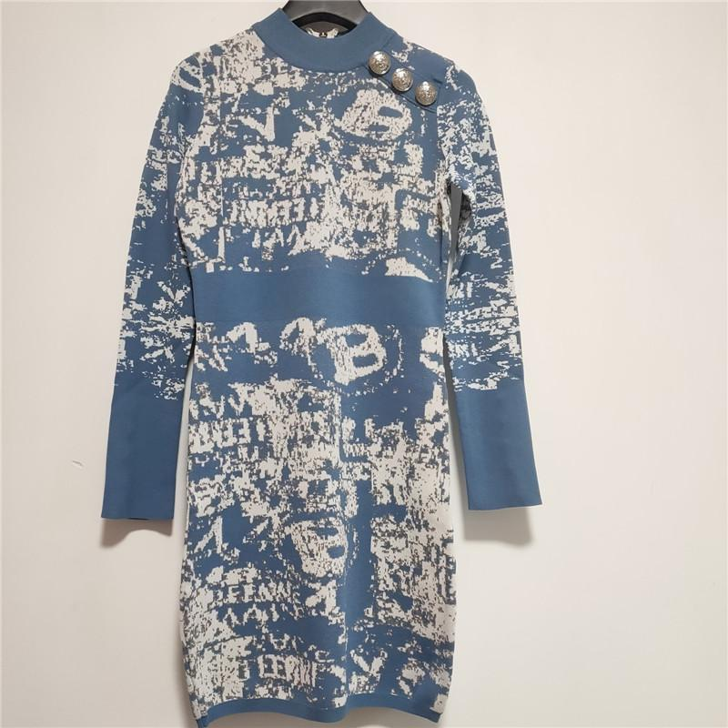 Дизайнер женской одежды платья Роскошные дамы платье одежды ремешок платье осень Горячие Марка Женщины Лучшие Тис Knit Сексуальные женщины платье партии 20816K