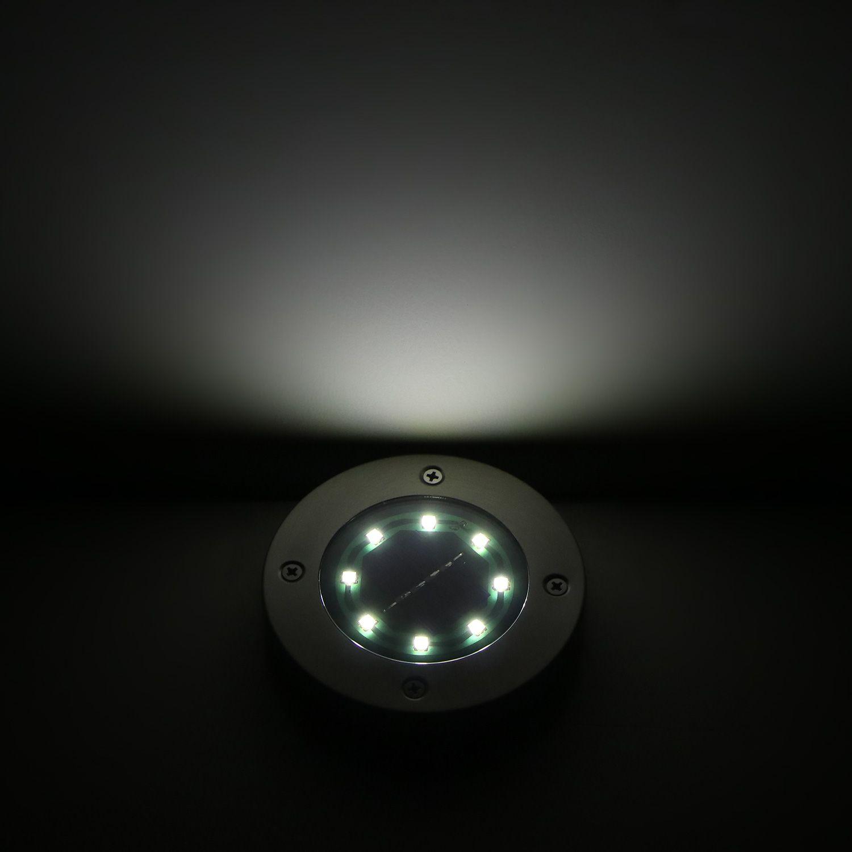 8 LED Solar Power Sensor Lawn caminho luzes à prova d'água IP67 Rua Energy Saving Iluminação Jardim Lamp Decoração de Natal ao ar livre