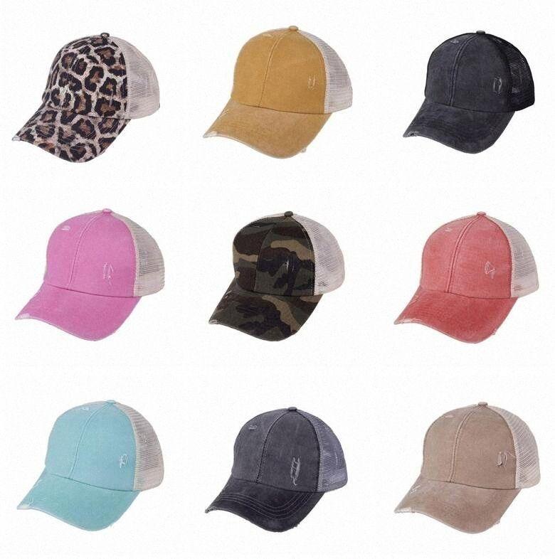 Ponytail Casquettes de base-ball Lavé Buns Messy coton chapeaux d'été casquettes de poney Casquette unisexe Visor Chapeau Outdoor snapback Casquettes avec CC Étiquette eg9y #