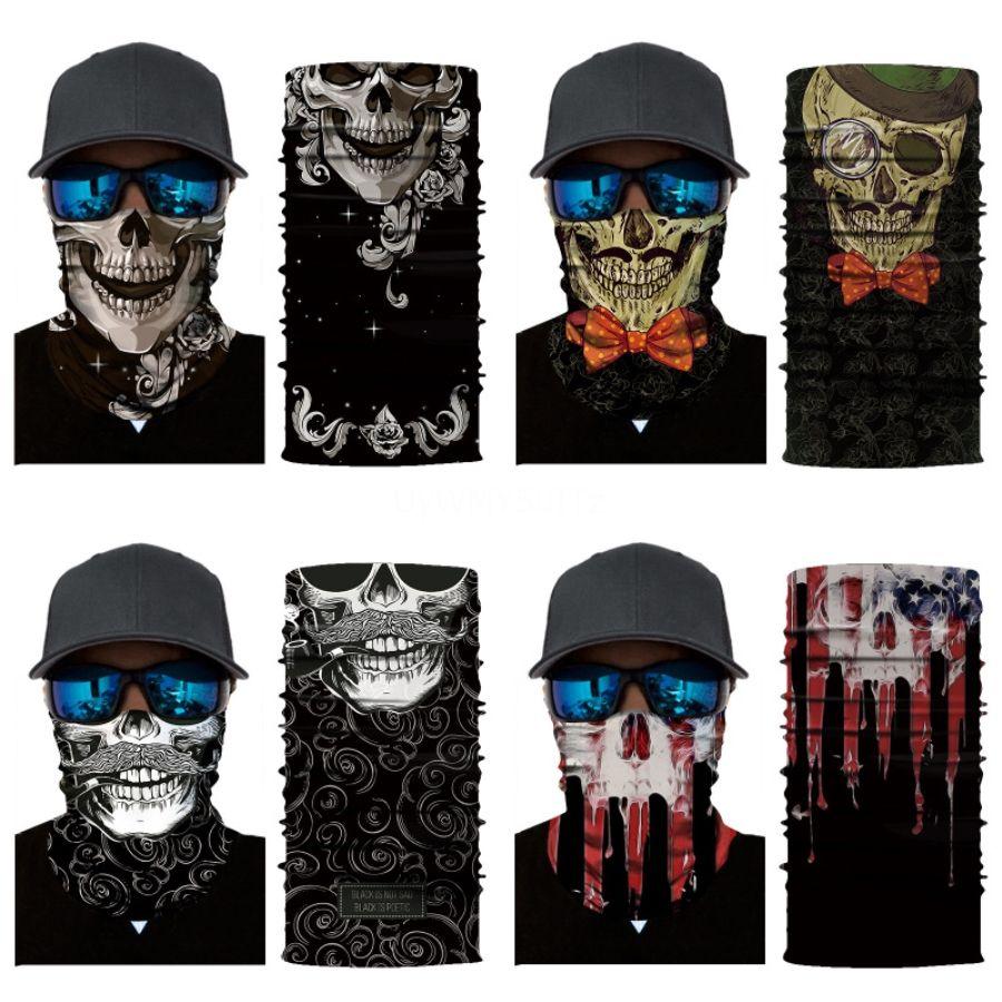 Açık Yürüyüş Kafatası Eşarp Windproof UV Koruma Bandana Yürüyüş Balıkçılık Boyun Kafatası Eşarp Bisiklet Yüz # 881 # 486 Magic Başkanı Wrap Bandana Maske