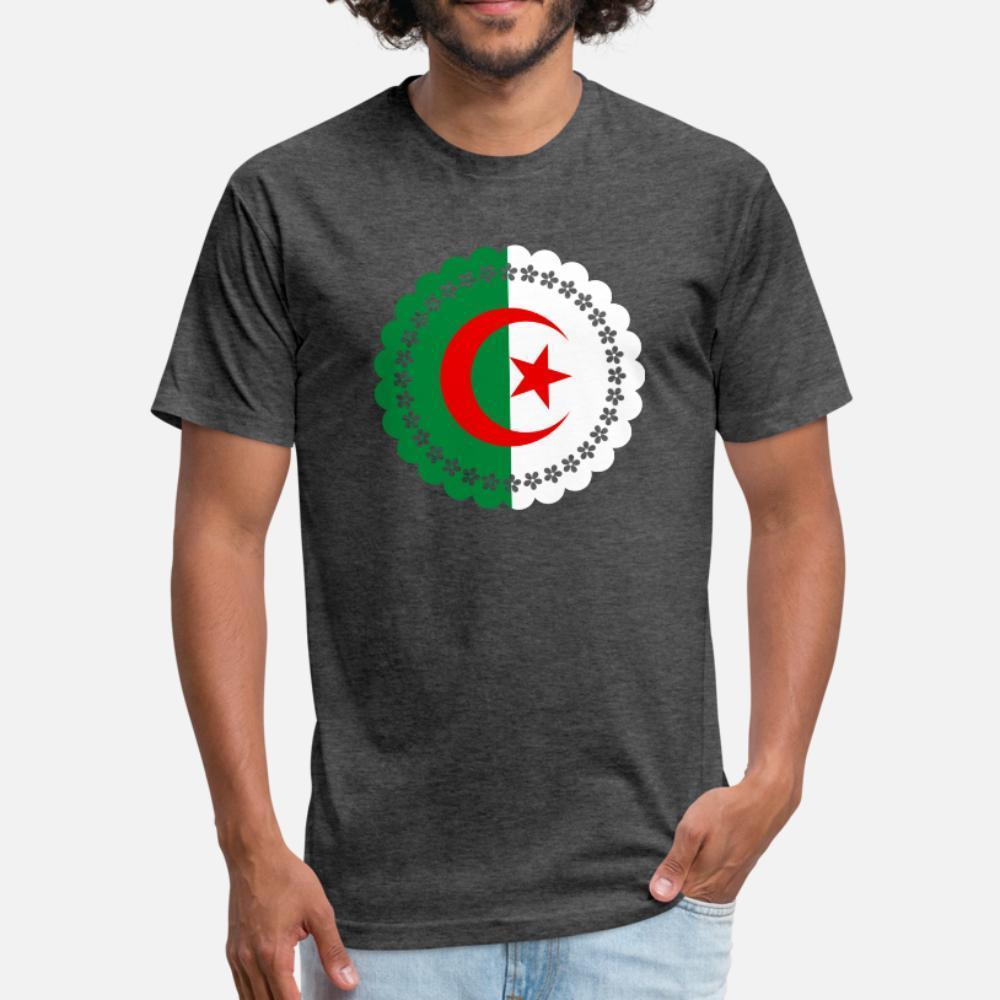 cezayir t gömlek erkekler Özelleştirilmiş tişört Mürettebat Boyun Kawaii Sunlight Bina Yaz Stili Trend gömlek