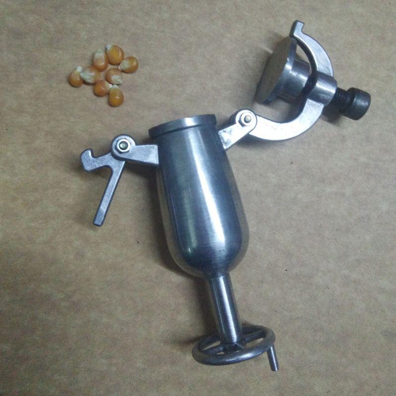 S S metal Grain amplifier popcorn machine old-fashioned Mini hand-held popcorn machine toy miniature home furnishing gun toy