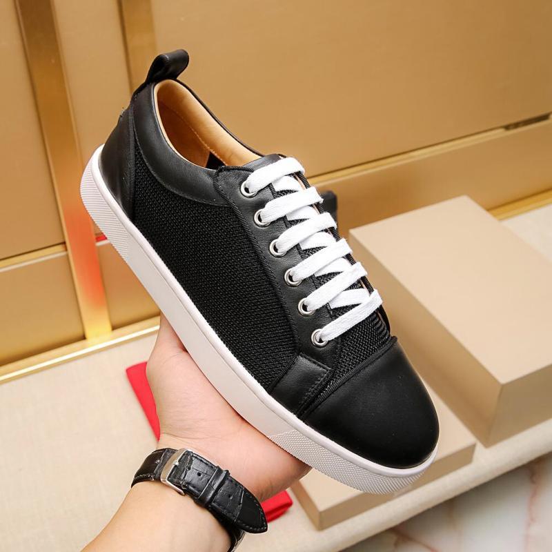 2019n de lujo famosos de impresión del modelo del logotipo zapatos deportivos casuales para hombre Top calidad zapatos casual para hombre del cuero auténtico Lace Up zapatos de deporte 38-44 LOS PRECIOS