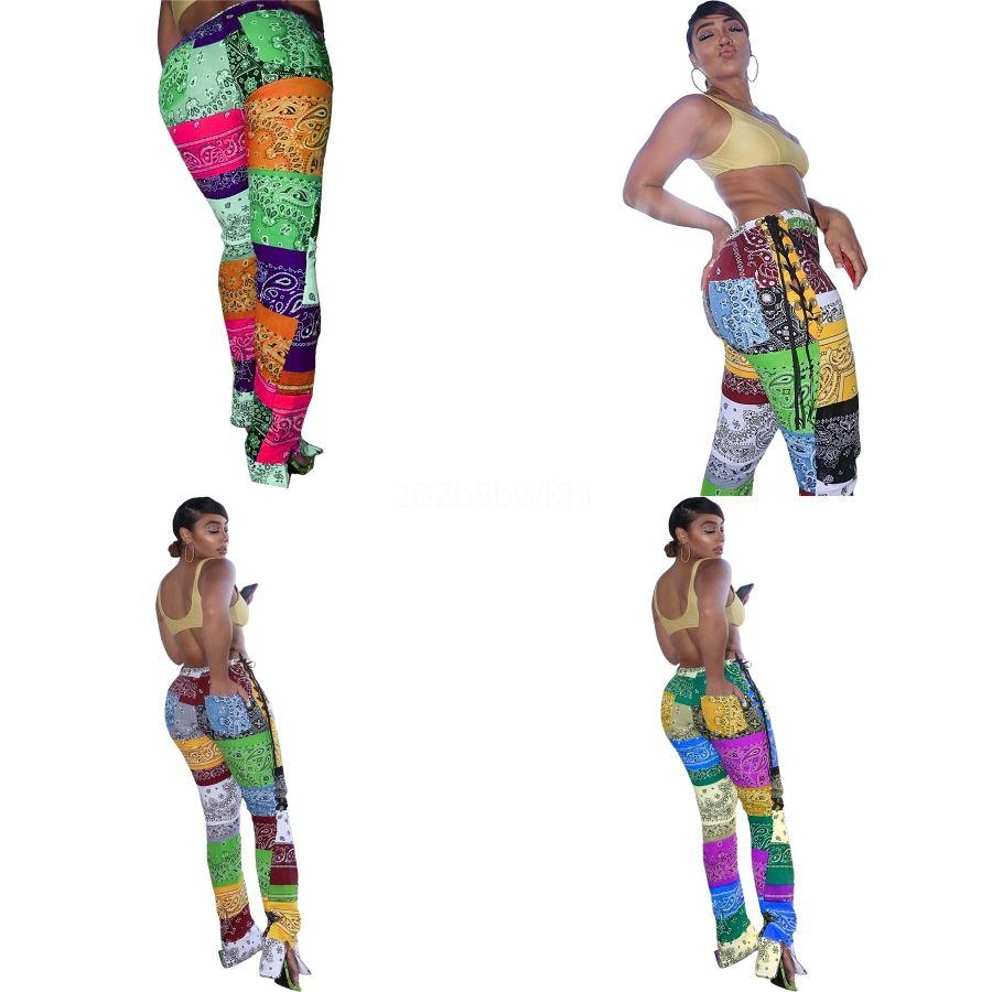 35 pantalones precioso remiendo de la manera de Paisley con tiras de Split polainas atractivas de fitness Femenina Steampunk polainas Comic Cosplay Imprimir gótica Stre # 800