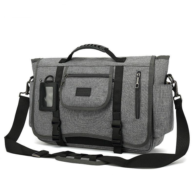 Men Bag Briefcase Business Side Canvas Shoulder Work Office Travel Bandolera DB60BA Laptop Messenger For Hombre Ogsof