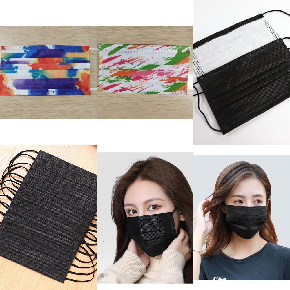 Camo stampa Designer 2020 Maschera Maschere Moda Face Face protezione dello strato di tre con Melt-soffiato QJAAQJAA 1HGT 9XXE 2 LHM2
