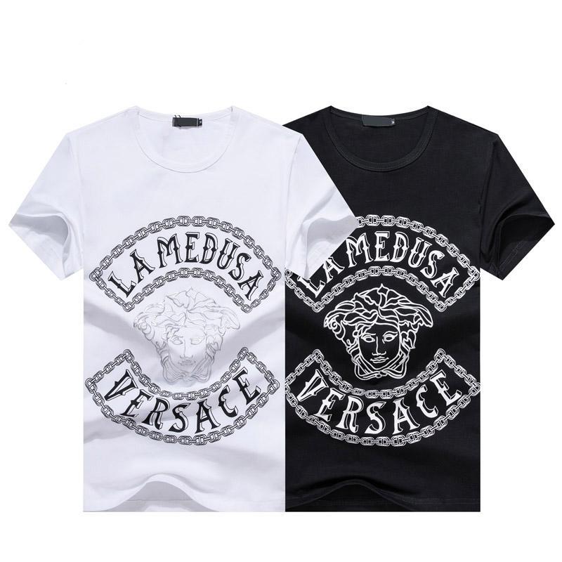 2020 Лето Новое прибытие Высочайшее качество Дизайнерская одежда Мужская мода футболки Medusa Печать Тис Размер M-3XL