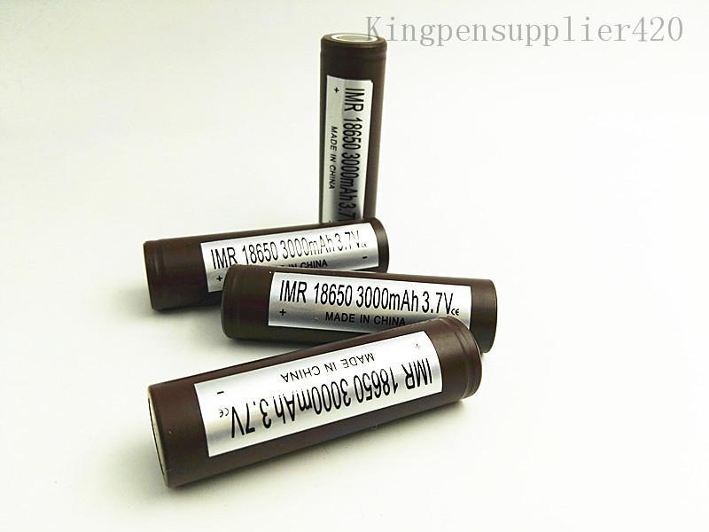 Instrumento vape caneta bateria 3000mAh de lítio 3.7V bateria poderosa para LG HG2 vapor bateria para E cigs Starter Kit