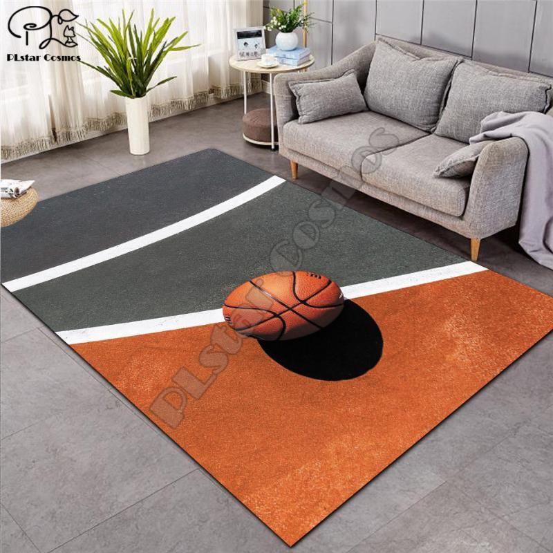 Alfombra de baloncesto 3D más grande Mat franela Velvet memoria manta suave Juego Juego Mats bebé Craming dormitorio Alfombras Salón de Decoración-5