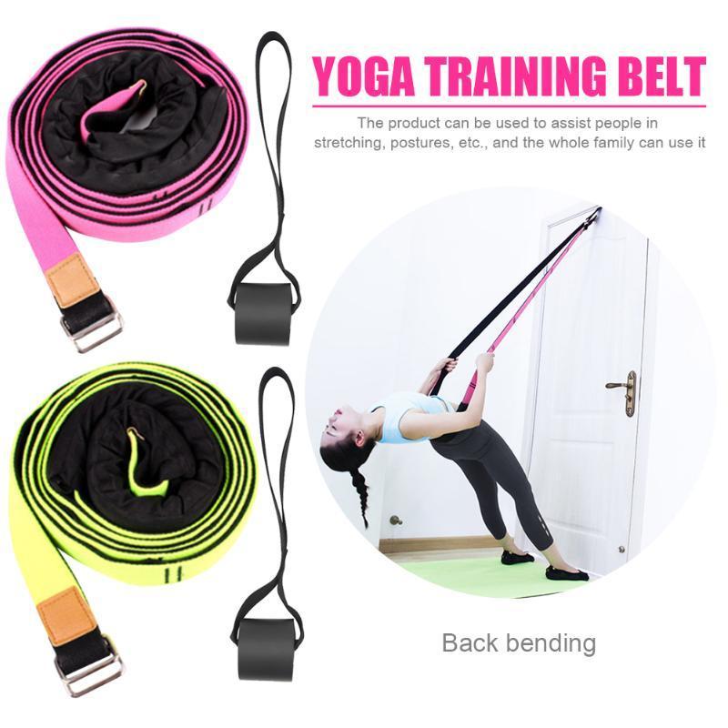 Indoor Yoga Porta Flessibilità Fitness fascia di resistenza di ginnastica Leg barella fune Pilates Strap Expander con con il portello di ancoraggio