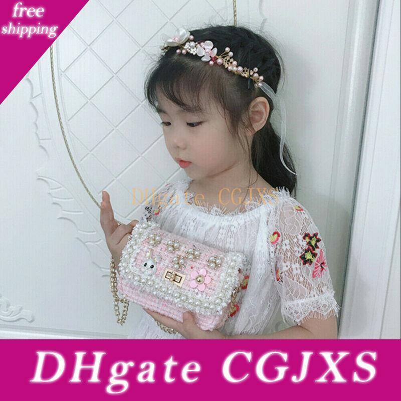 8 Styles Sacs Floral Enfants Enfants épaule Messenger Sacs bébé Mini sac à main anniversaire Perle cadeau Princesse Party Sacs