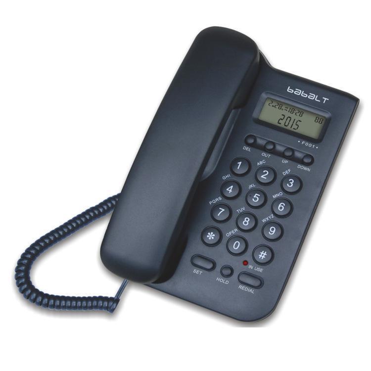 cgjxs Accueil Bureau Téléphone fixe Téléphone Identification de l'appelant sans batterie ENGINS