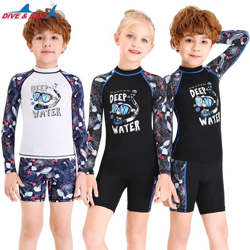 Kids Boy Swimsuit Sun Protection Rash Guards One Piece Bathing Suit Swimwear