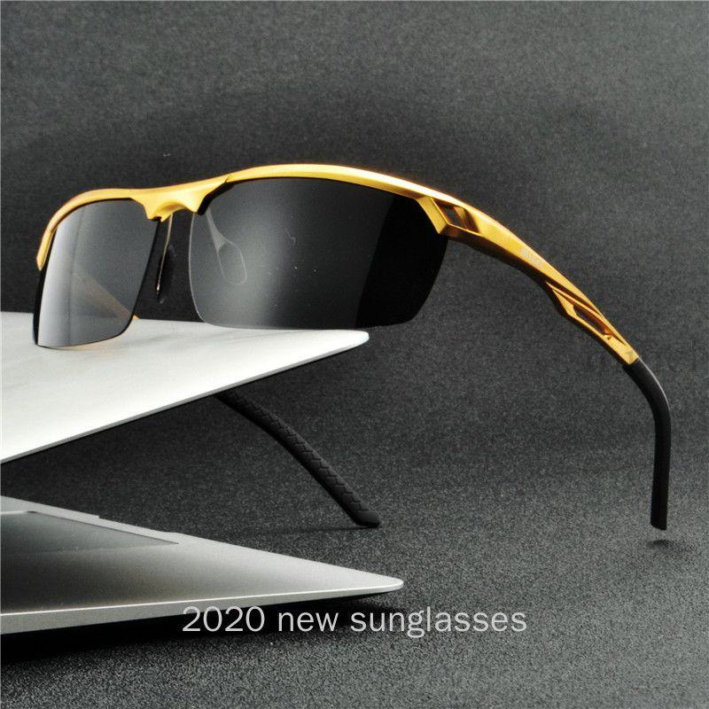 2020 вождения магния поляризованные солнцезащитные очки мужские алюминиевые очки мужчины женские рамки солнце нового NX Goggle UV400 Classic Uuntw