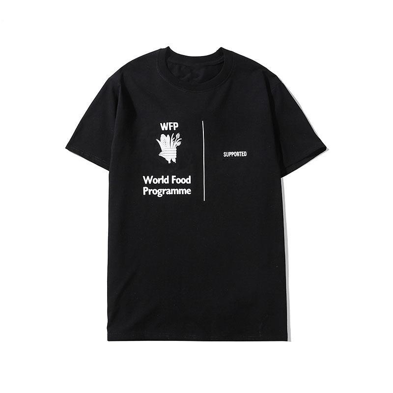 T-shirt de mode Hommes Nouveau style Tendance été Graceshirt à manches courtes de haute qualité Vêtements pour hommes Blanc et Noir Taille: S-2XL