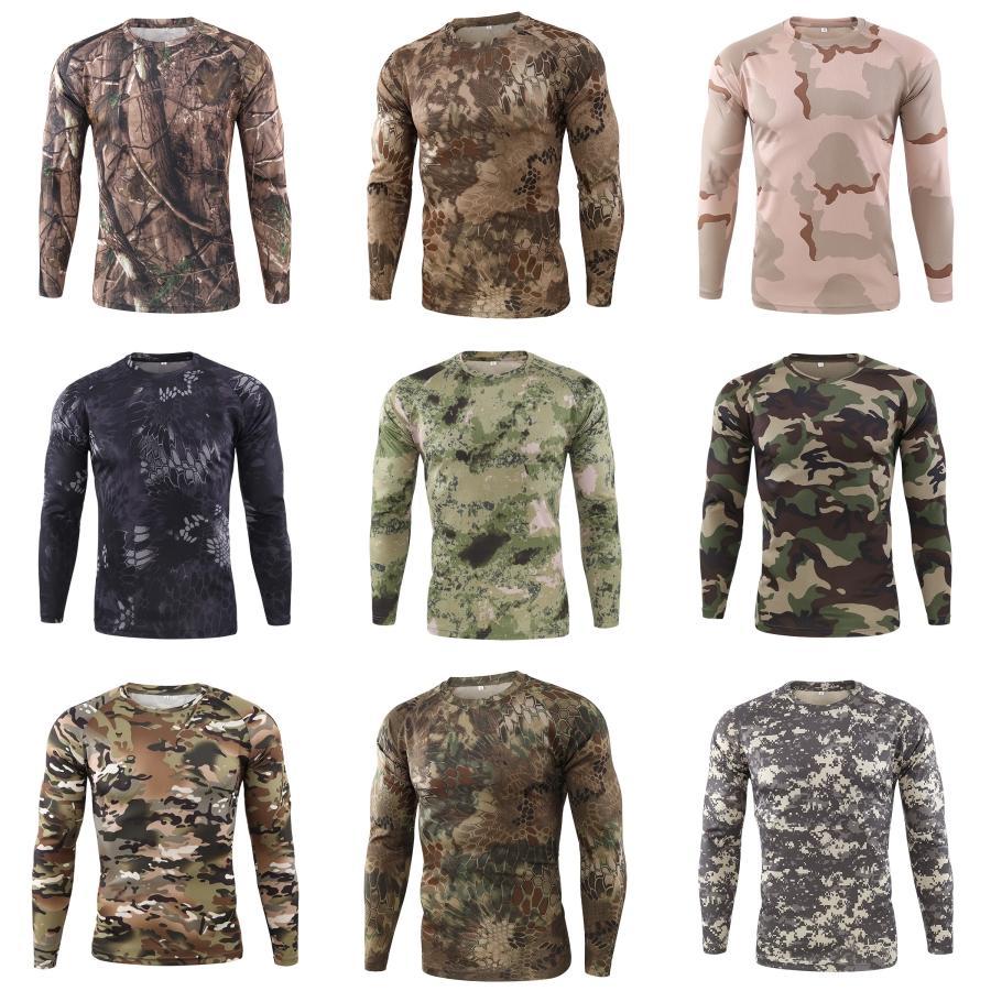 2020 Autunno Moda Uomo T-shirt O-Collo Slim Fit di Maglieria Uomo manica lunga Pullover magliette Men # 960
