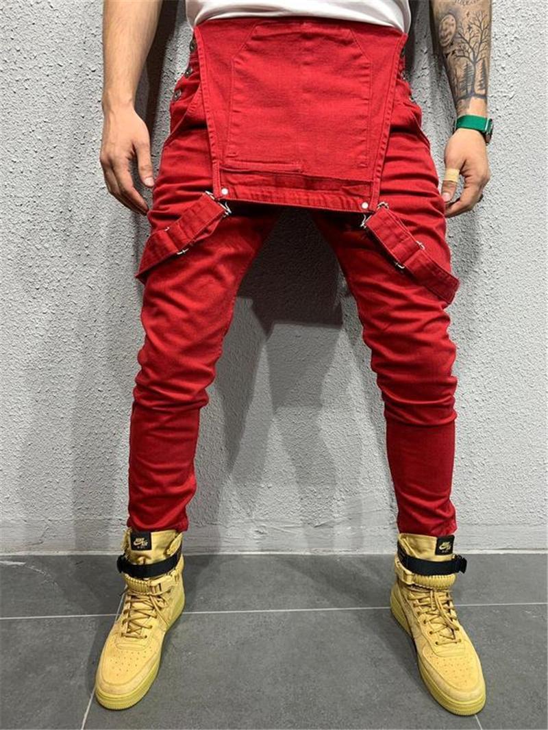 Cep Dekorasyon Homme Casual Kargo Pantolon Erkek Katı tulumları ile pantolon Erkek Pancil Pantolon