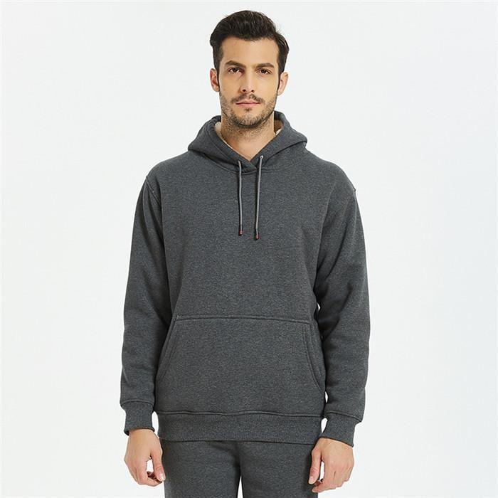 Толстовки Плюс толстый бархат теплый пуловер с капюшоном Толстовка Мужчины сплошной цвет толстовки мужские осень зима
