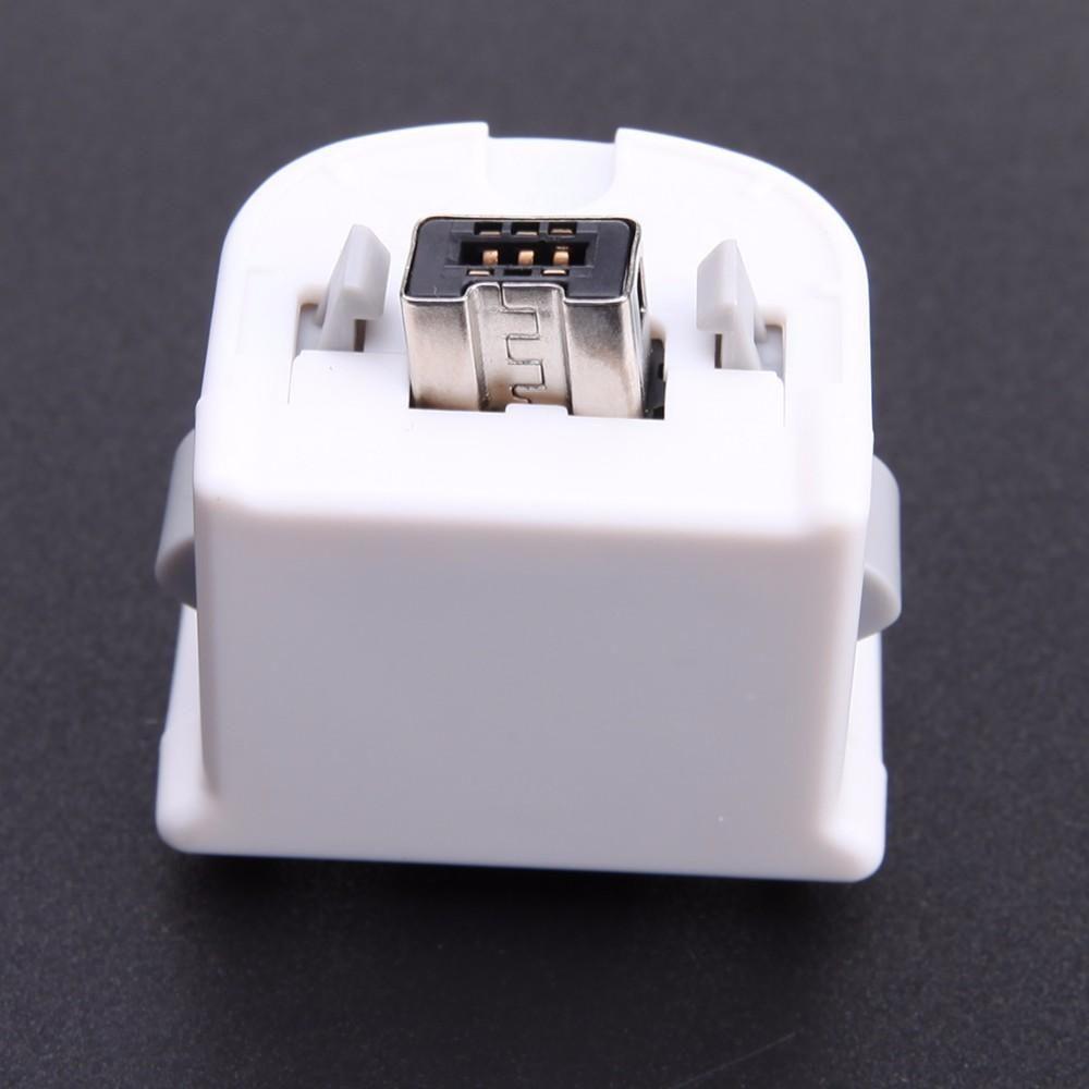 Cgjxs New Black Wireless Motion Plus-Adapter-Sensor für Nintendo Wii Konsole Controller-Remote-Adapter mit Silikon-Jacken-Kasten