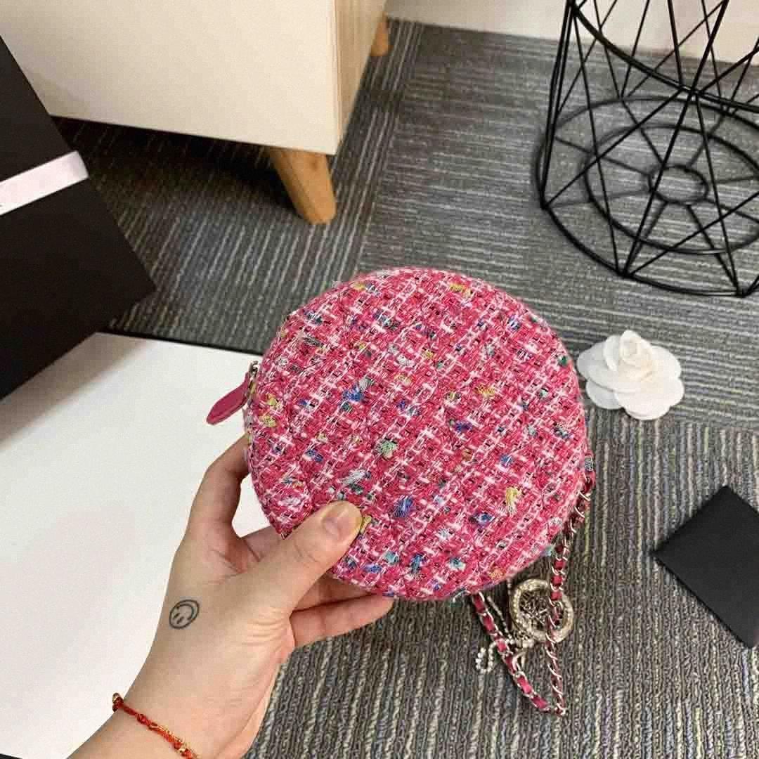2020 Designer-Handtaschen arbeiten Kreis Designer Schultertasche Kette Handtasche Luxus Umhängetasche Geldbeutel-Dame Tragetaschen Liebes-Herz-Muster 6g60 #