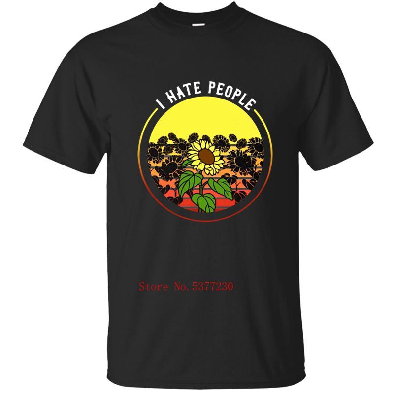 Я ненавижу человек Подсолнечных татуировок T-Shirt Mens T Shirt For Mens Tshirt для мужчин Одежда Фитнеса 2020 Топов Camisas Baratas