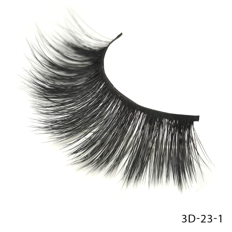 Haever 5 Pairs 3D False Eyelashes Eyelash Wispy Lashes Handamde Cruelty-free Flared Variety Lashes Extension Natural Makeup Tool