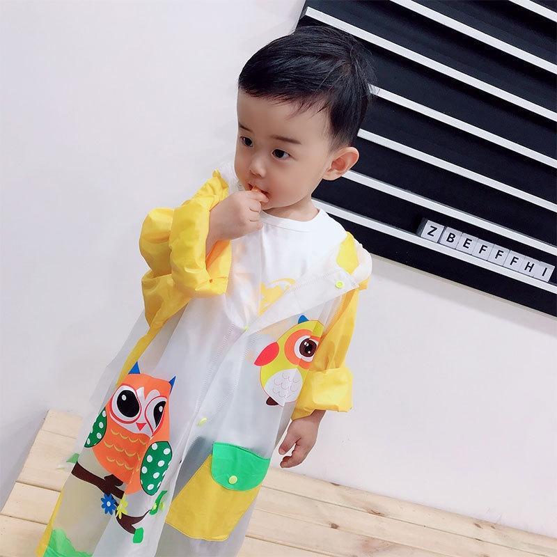 JVjlS Twh0b Kinderregenmantel Inflatable dicken Schulranzen Mantel Mädchen Jungen Kindergarten Baby wasserdichte aufblasbare Poncho Schulranzen Childr