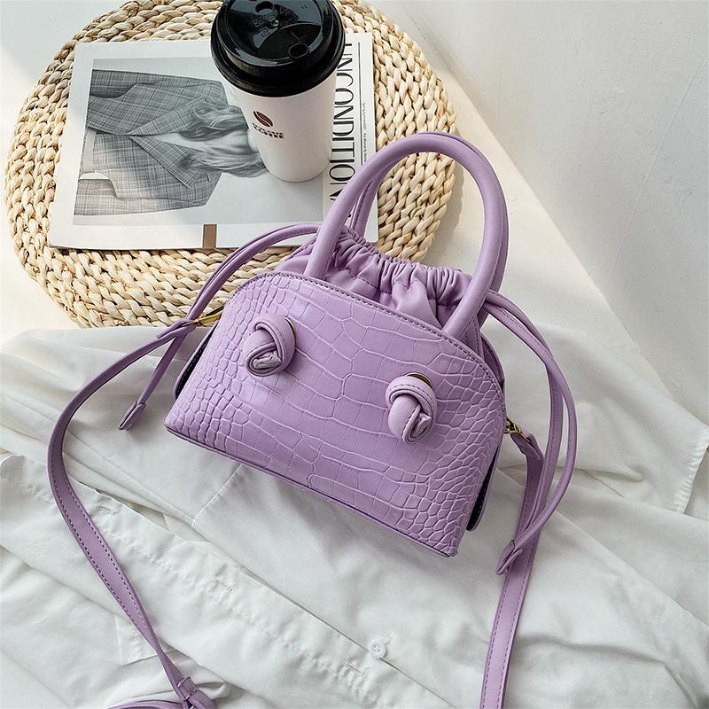 designer bag Cute Tote bags Small Solid Color PU Leather Crossbody Bags For Women 2020 Elegant Shoulder Handbags Female Lady Purple Hand Bag