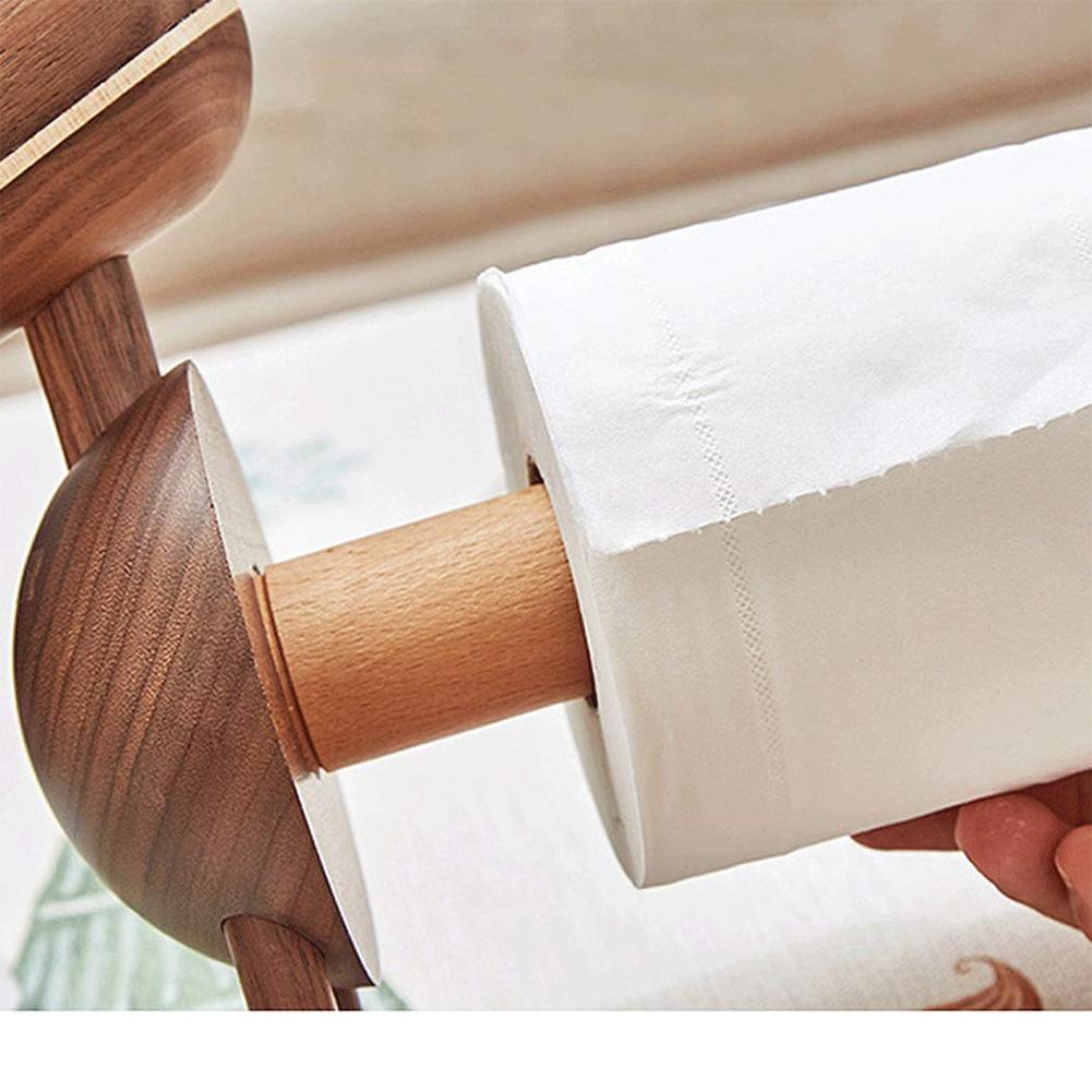 Karikatur-Papierhandtuchhalter Ornamente Kleiner Esel Rack-Startseite Organizer Holz