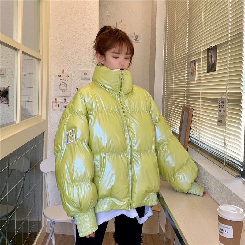 AtxyxtA Pink Bubble Puffer Jacket 2019 пальто зимы женщин Lime Зеленый Розовый Желтый Красный Черный CJ191128