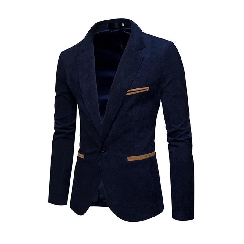 Nouvelle veste blazer occasionnels haute veste de costume Slim loisirs velours côtelé hommes de mode de qualité et les hommes prix unique bouton rouge marine Khaki