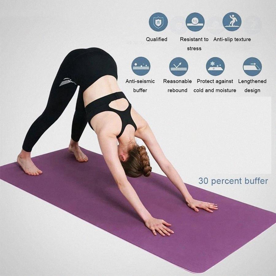 Cimnastik i2XE için # kalın TPE 8mm yoga minderi egzersiz pilates halı Kaymaz battaniye yastık