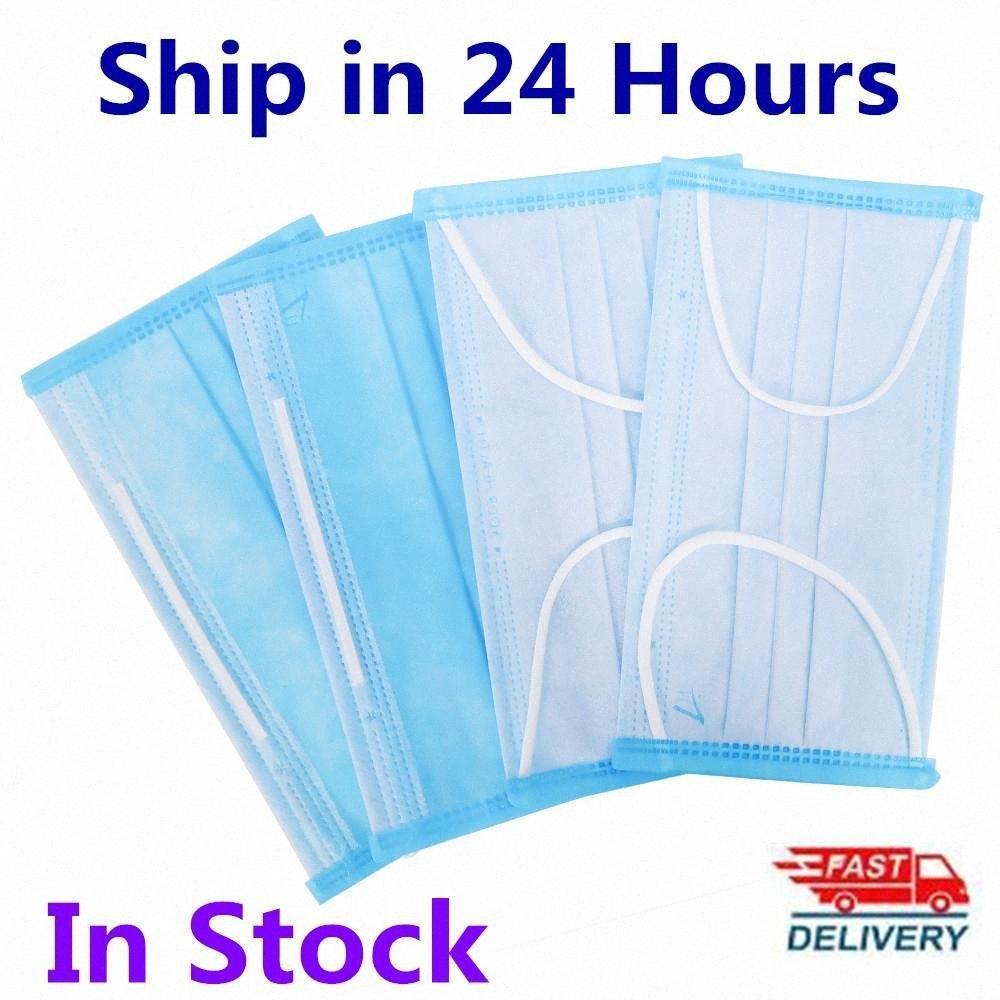 Mavi Tek Kat Yüz 3 Maske Ağız Katmanlar Kapak Maskeler earloop Sigara Dokuma 24h Gemi DHL Kargo Stokta un5J #