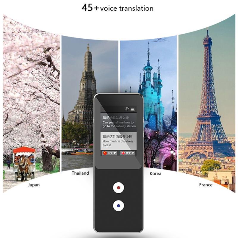 T9 + Offline Portable Intelligent Voice Translator Multilingual Instant Traduttore Business Travel Travel Machine Inter-traduzione