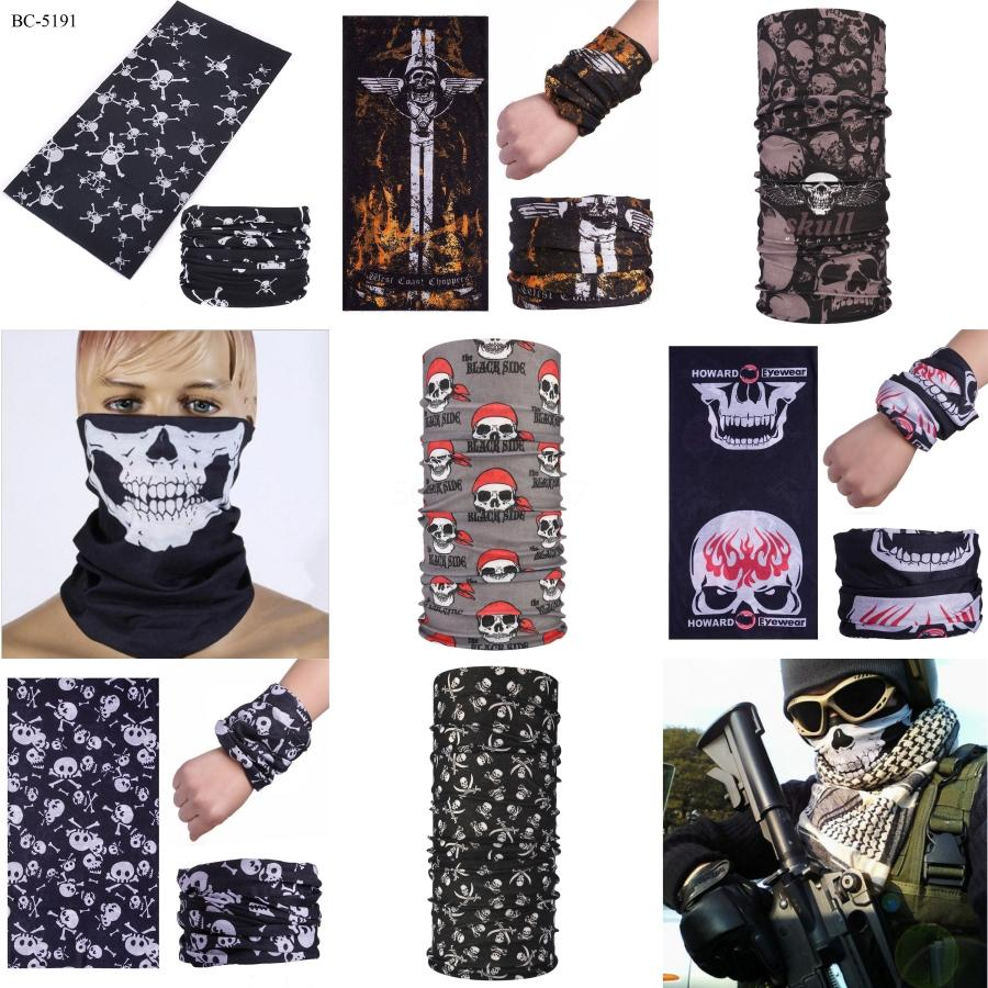 Vip Fashion Halloween Skull Printed Face Masks Biden Mask Outdoor Sporting Headwear Riding Biden Mask Cycling Neck Headband Bandana #111##185