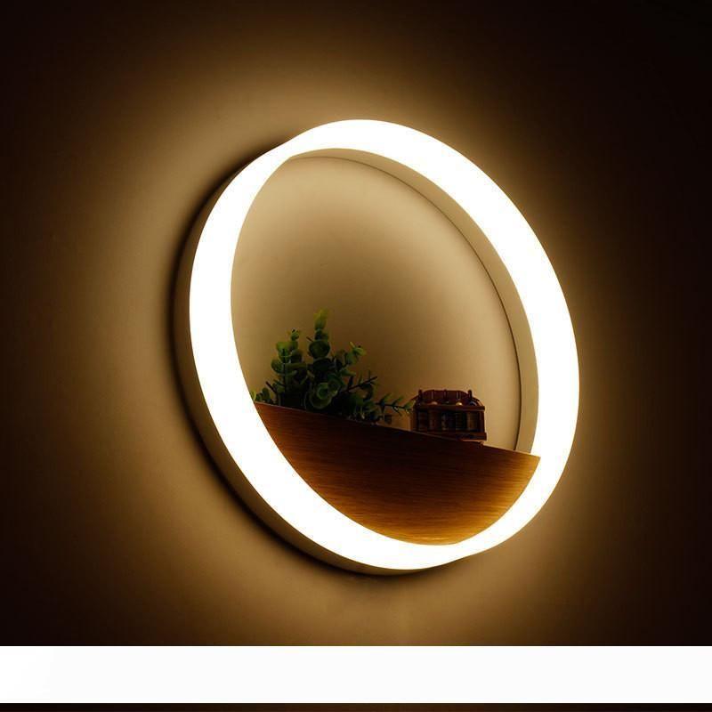 Простой Творческий Круг Акриловые Бра Ванная Спальня Кухня Настенные светильники светодиодные настенные светильники Светильник для прихожей