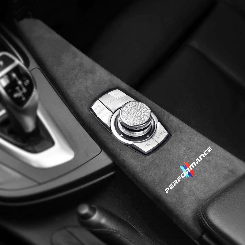 Alcantara en daim de voiture Multimédia Bouton Touche Panneau ABS Couvercle d'ABS Performance Stickers Stickers pour BMW F30 F34 F31 F36 F35 F33 F32