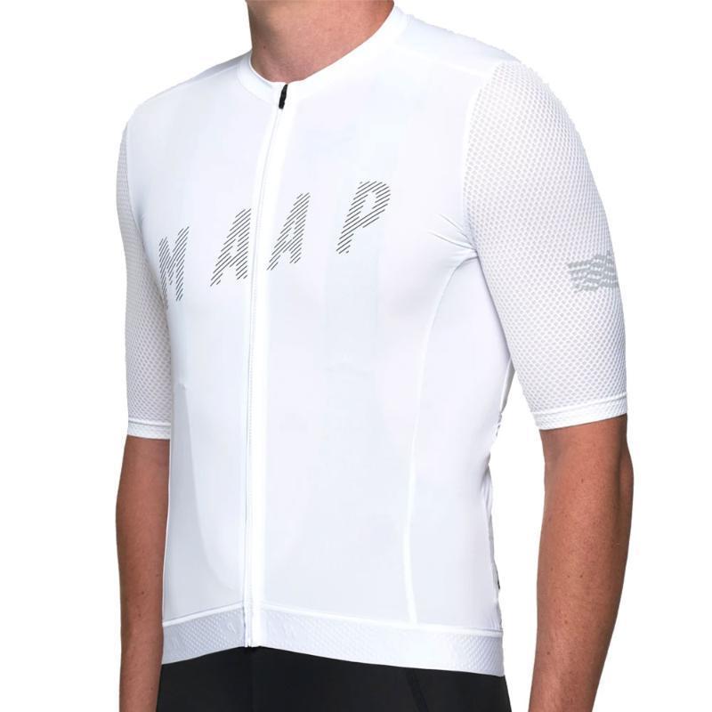 MAAP Мужской летнего Велоспорт Джерси Короткие дышащий MTB задействуя одежду Ropa Ciclismo Спортивной велосипед Джерси 19D подушка
