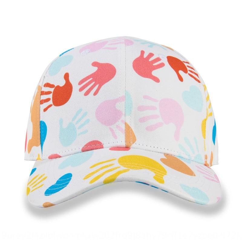 Les femmes de style coréen ins coton style casquette de baseball été imprimé casquette de baseball du soleil en plein air protection solaire chapeau