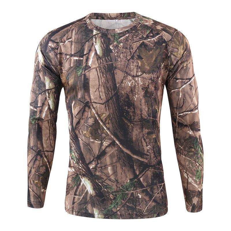 قميص الرجال بيع كم طويل تي شيرت Puimentiua في الهواء الطلق التمويه تي شيرت التجفيف السريع التمويه الصيد المشي لمسافات طويلة التخييم الرجال الساخن